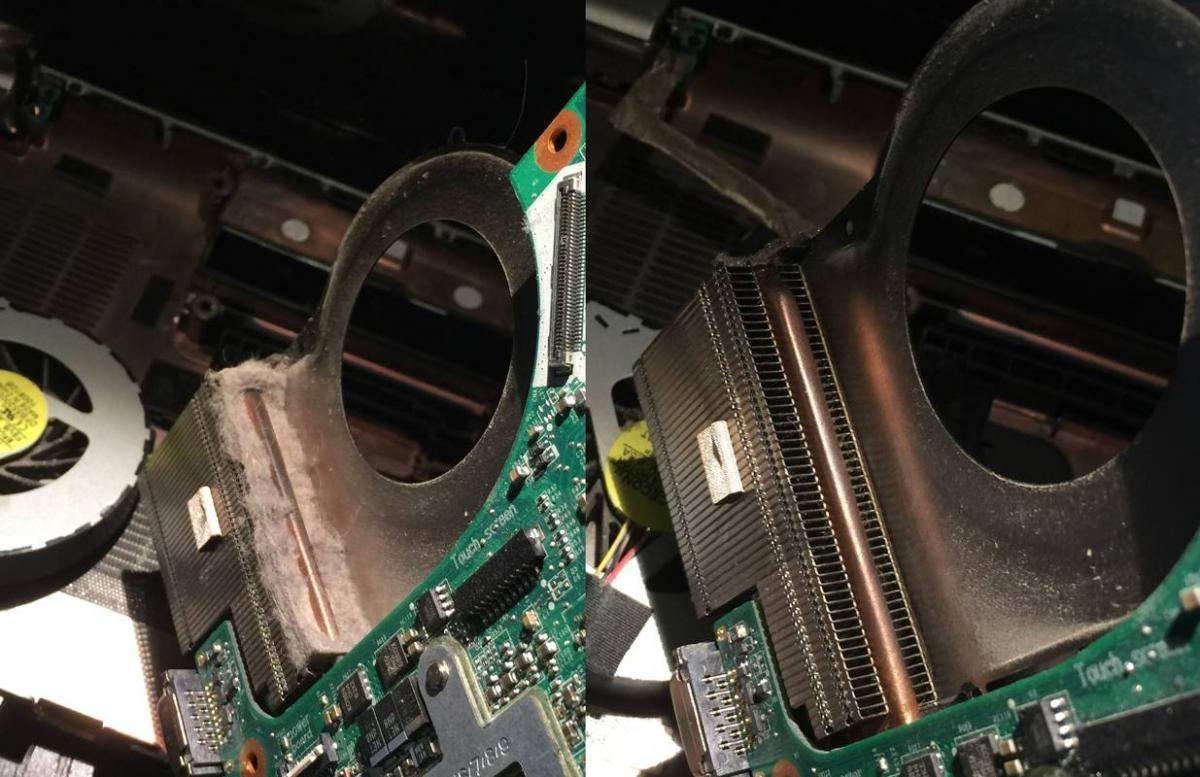 Gjort ren en bärbar dator.