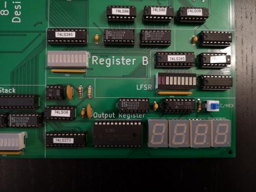 Closeup output register